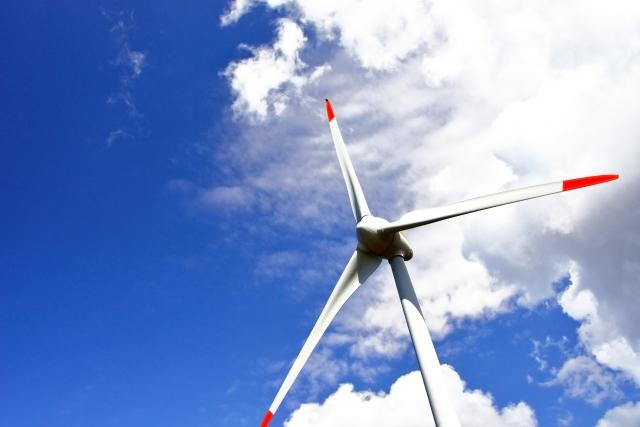 風太風力発電所(接近)
