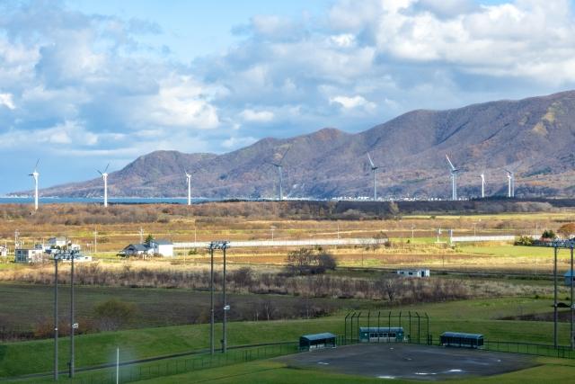 風太風力発電所(陸上から)