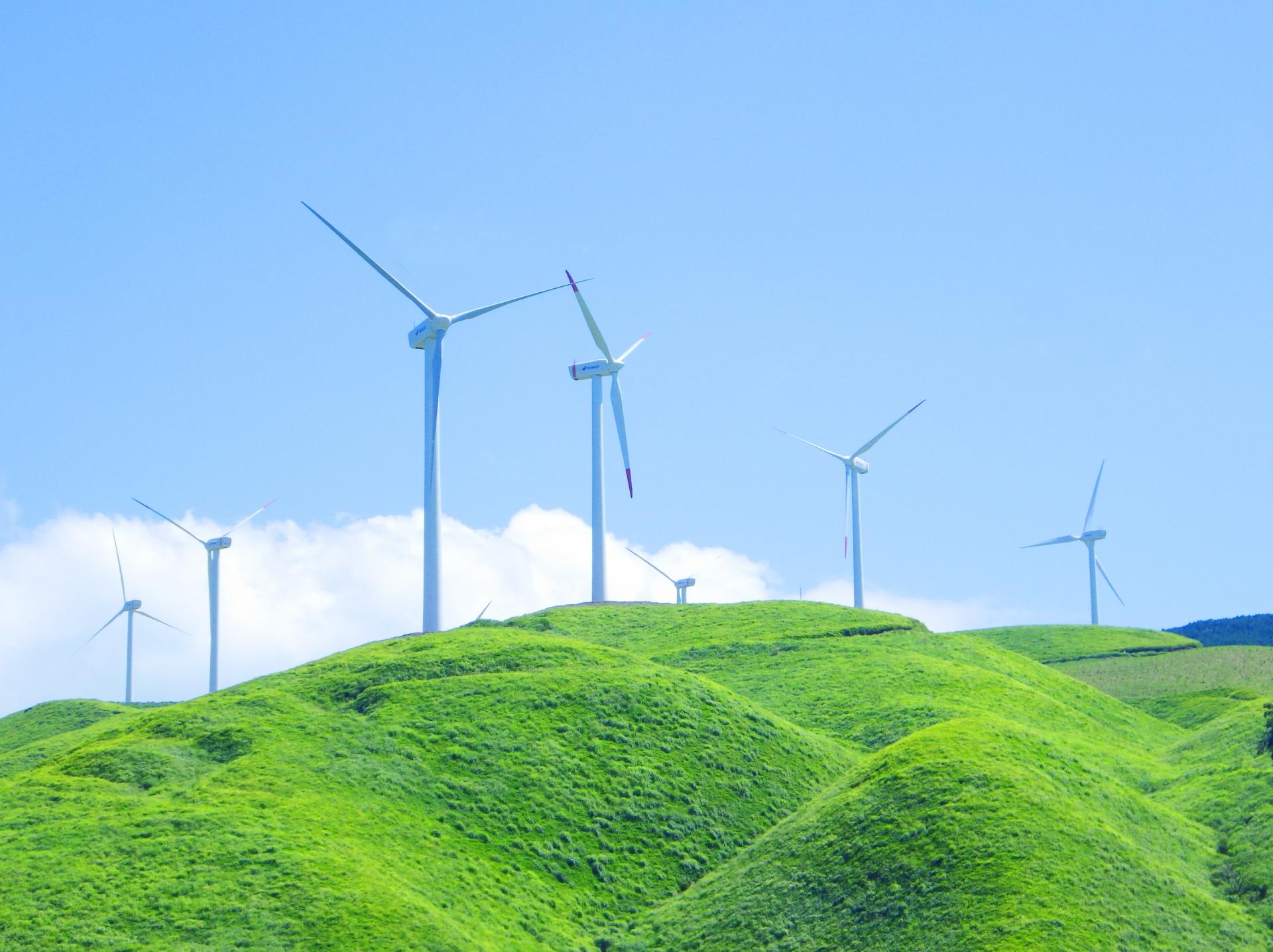 阿蘇にしはらウィンドファームの風車