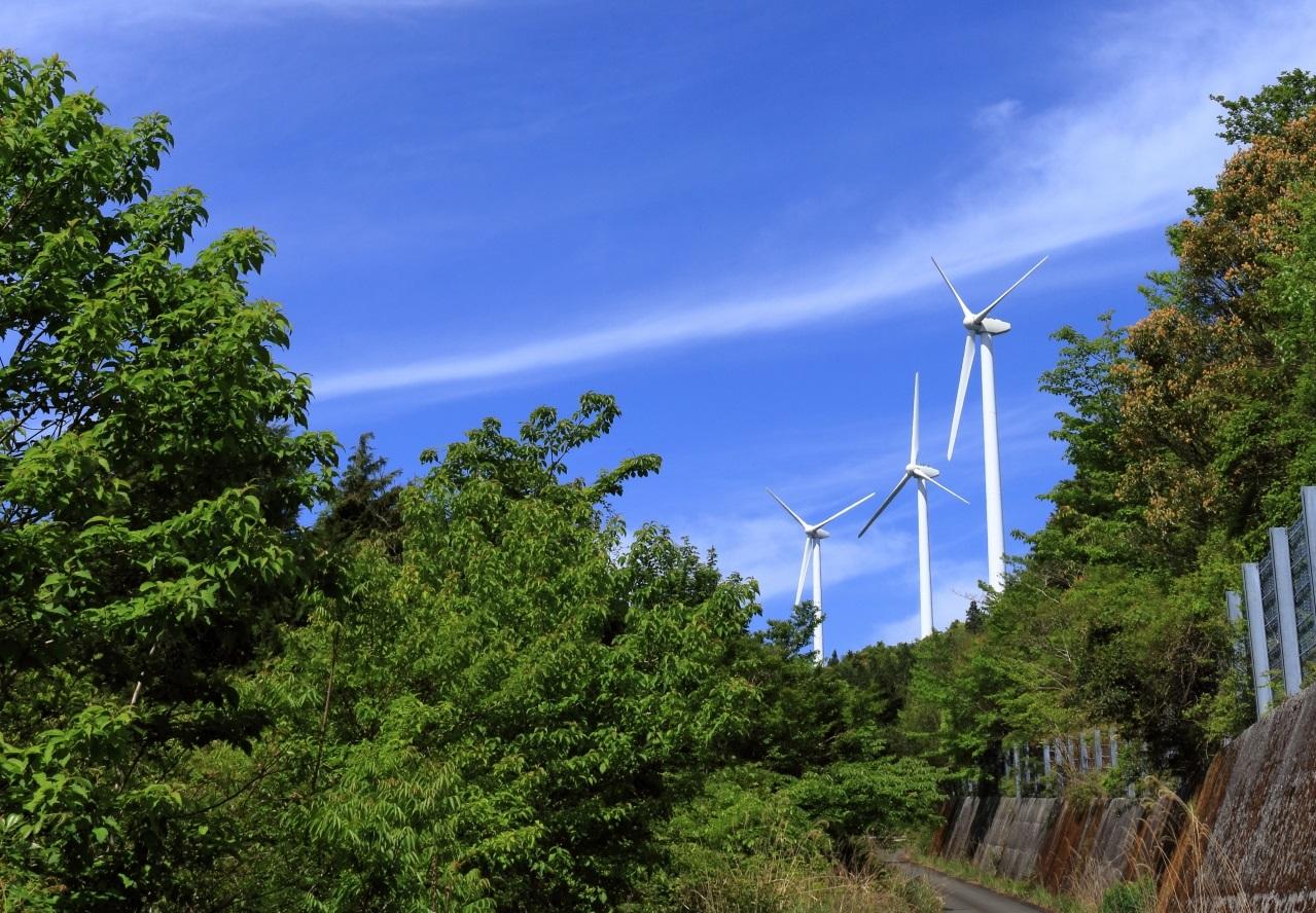 葉山風力発電所の風車