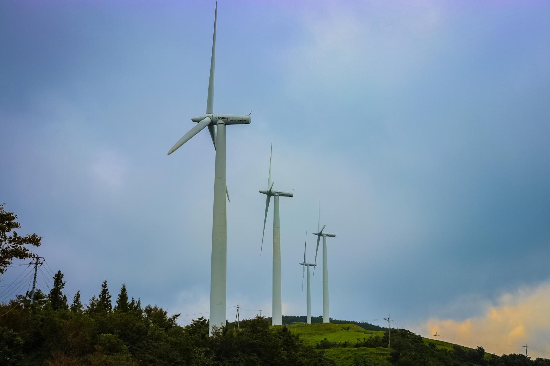 大川原ウインドファームの風車
